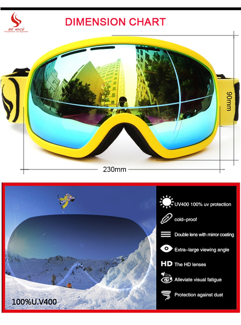 skiing glasses snow
