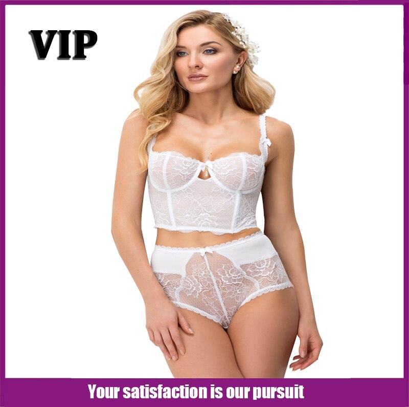 Women Sexy Transparent Lace Bra Half Cup Body Shap...