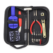 16pcs Household hand tool set watch tools box professional supplies for DIY repair watch fix watches