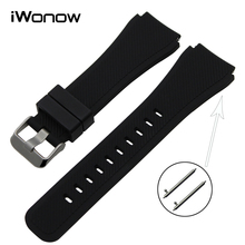 Quick Release Silicone Rubber Watchband 21mm 22mm for Casio Seiko Citizen Watch Band Wrist Strap Bracelet Black Brown Blue Red
