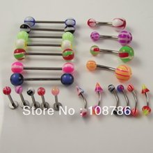 20pcs body piercing jewelry mix styles color eyebrow ring tongue rings belly ring Lip Ring Body Piercing Jewelry