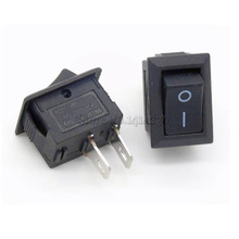 5Pcs Black Push Button Switch 3A 250V KCD11 2Pin Snap-in On/Off Rocker Switch 10MM*15MM BLACK