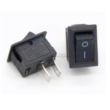 5Pcs Black Push Button Switch 3A 250V KCD11 2Pin Snap-in On/Off Rocker Switch 10MM*15MM BLACK(China)