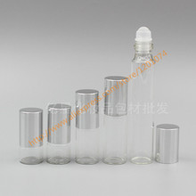 1ml/2ml/3ml/5ml/10ml clear Glass Bottle(long neck) With glass roller+silver aluminum lid,roll-on/perfume/deodorant bottle