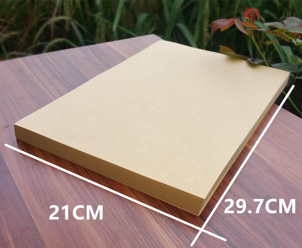 50pcs Lot A4 Size 21297cm Kraft Paper 250gsm Card DIY Box Gift Packing