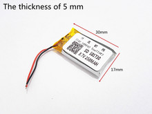 10pcs 3.7V 250mAh 501730 Lithium Polymer Li-Po li ion Rechargeable Battery cells For Mp3 MP4 MP5 GPS PSP mobile bluetooth