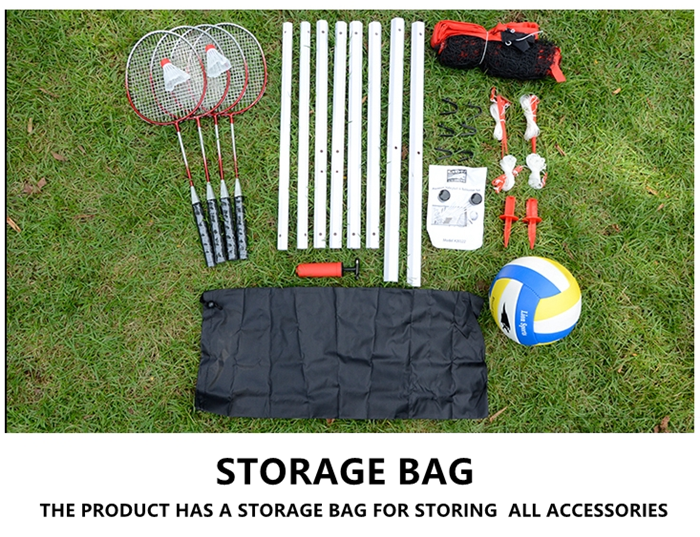 HTB1WxAciuKAUKJjSZFzq6xdQFXaE - Sports 2 in 1 recreational badminto and volleyball combo set :net poles,ball,rackets &shuttlecock -portable euqipment for lawn