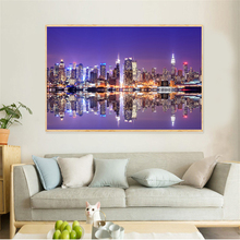 Canvas Painting New York 풍경 Brooklyn Bridge USA Skysrapers 맨해튼 벽 Pictures (China)