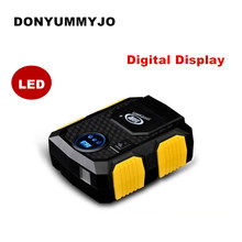 Hot Sale Digital Display Auto Car Tire Inflator 12V Electric Car Air Compressor Pump LED Light Digital Inflatable Pump(China)