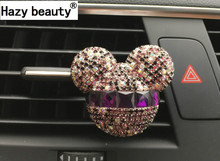 Hazy beauty car ornaments Exquisite diamond Air conditioning outlet Car air refreshing agent Car styling Perfumes 100 Original(China)