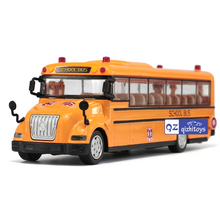 High simulation School bus scale alloy pull back School bus model Diecast bus cars toy Children's gift 1:32(China)
