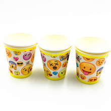 10PCS/LOT EMOJI CUPS EMOJI GLASSES KIDS BIRTHDAY PARTY WEDDING PARTY SUPPLIES HAPPY BIRTHDAY PARTY EMOJI CUP