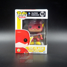 The Flash Super Heroes Funko Pop TV The Flash 10# Action Figure Comic Doll Collectible Kids Model Toy for Children Decoration