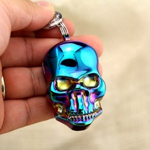 Mini Metal Usb lighter Keychain pendant, Creative USB charging cigarette lighter(China)