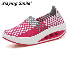 Buy Xiaying Smile Platform toning Wedge sneakers sport shoes women Light weight zapatillas Women Swing Shoes Breathable for $28.13 in AliExpress store