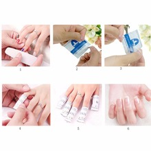 100Pcs/Box Remover Wraps For Gel Polish Acetone Pad Foil Nail Art Cleaner Tool