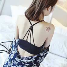 Full Cup Bra Tops Sexy Bras Cotton strappy halter bralette Crop Padded Cami Women wire free Fitting Tank New Arrival Bralette