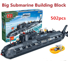 supramaximal 502pcs nano submarine building block toy puzzle educational military series building  toys gift for boys children