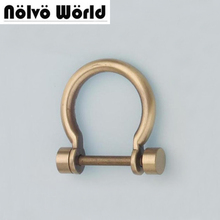 "23*35mm(7/8"" inside) bags' handle hardware brush antique brass D-Ring Shackle Zinc Finish,making your own bag purse accessory"