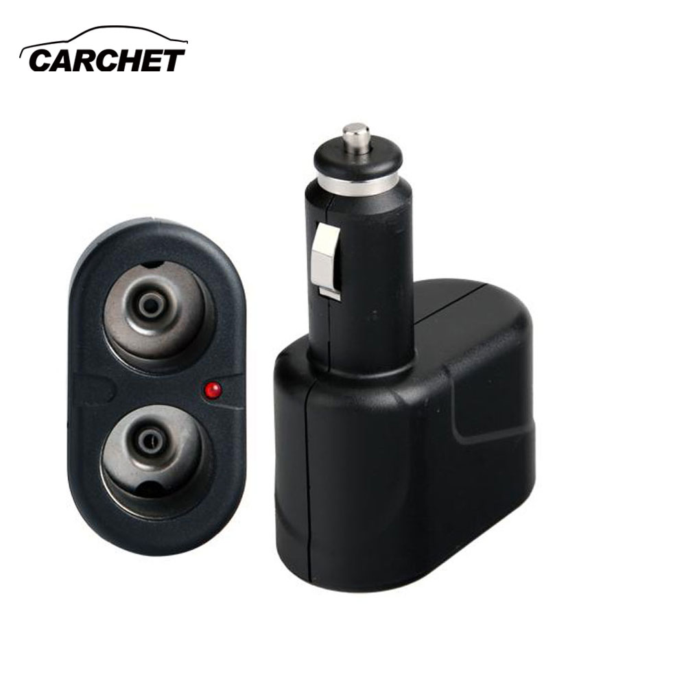 CARCHET Car Vehicle Dual Socket Cigarette Power Adapter Lighter Splitter DC 12V Car Cigarette Lighter(China)
