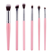 Pro Brand 6Pcs Makeup Brushes Sets Soft Face Cosmetics Eye Shadow Blusher Lipstick Lipgloss Lips New Make Up Beauty Tools Kits(China)