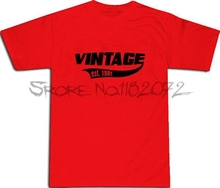 Vintage Est 1981 Cool T-SHIRT S-XXL # Red