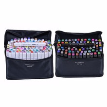 Touchfive 30/40/60/80 Colors Art Markers Set Sketch Markers Pen For Manga Graffiti Drawing Markers Design Office School(China)