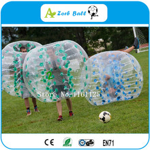 Dia 1.2m TPU bubble soccer for kids,Big discount inflatable bumper ball / bubble ball suit /human hamster ball