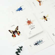 30 pcs/lot Beautiful butterfly insects card Marine animals postcard landscape greeting card christmas card  message gift