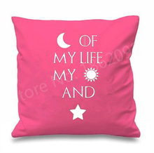 New Moon of My Life Quote Game of Thrones Cushion Cover My Sun and My Stars Letter Throw Pillow Case Cool Room Decor Custom Gift(China)