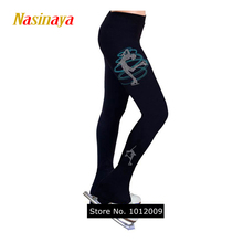 Customized Clothes Ice Skating Costume Figure Skating Pants Warm Fleece Trousers Adult Child Girl Turning Skater Rhinestone(China)
