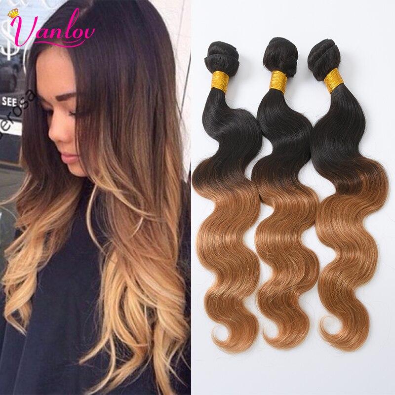 Ombre Hair Extensions 4 Bundles Brazilian Body Wave Virgin Hair T1b/27 Blonde Brazilian Hair Ombre Hair Bundles Body Wave Weave<br><br>Aliexpress