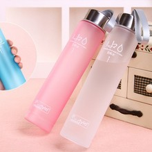 New Portable Grinding Advertising  Lovely Students 280 Ml Water Bottle Custom Colorful Bottle Free Ship