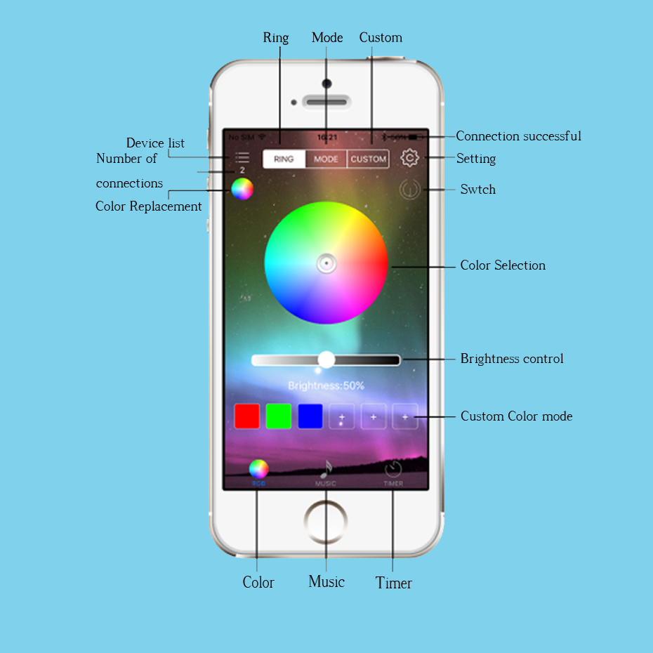 RGB Bluetooth Remote Led Controller For Led Strip 12V Controller Music RGB Controller DC 5-24V Led Controller Music Wireless     (4)