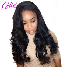 Celle Hair Peruvian Virgin Hair Loose Wave Bundles 100% Human Hair Extensions Double Weft Natural Color Raw Hair Weave Bundles(China)