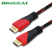 HDMI Cable 0.5M 1M 2M 3M 5M 10M 15M Gold Plated HDMI to hdmi Cable with nylon mesh 1.4v HD 1080P for LCD DVD HDTV XBOX PS3