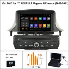 Android 7.1 Quad Core CAR DVD Player for RENAULT Megane III 2009-2011 FLUENCE 1024X600 SCREEN WIFI/3G+DSP+RDS+16GB flash