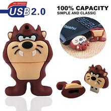 100% real capacity cartoon tiger  USB flash pen drive 8gb 16gb 32gb 64gb USB Stick 8g 16g memory Pendrive U Disk creative Gift