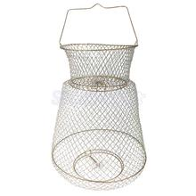 Foldable Metal Steel Wire Fish Lobster Mesh Fishing Net Prawn Crab Cage Trap Net