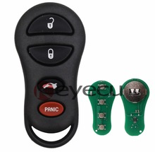 2pcs/lot New Keyless Entry Remote Car Key 3+1 Button Fob for Dodge Chrysler Neon FCC: GQ43VT9T