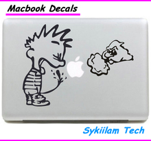 Cartoon Calvin Pee Spoof for apple Sticker Macbook Skin Air 11 12 13 Pro 13 15 17 Retina Decal Laptop Wall Car Vinyl Logo Case