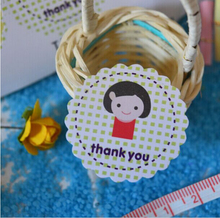 500pcs Free shipping custom bakery cake cookie candy gift seal thank you mom paper label packing stickers adhesive tag Dia.34mm