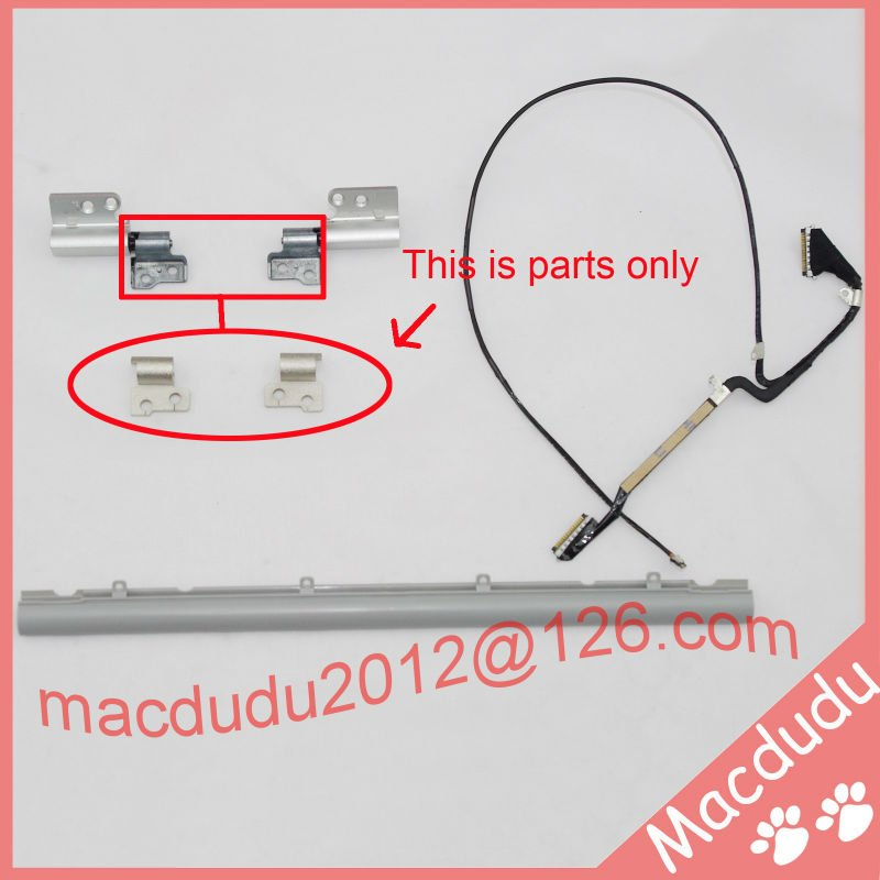 Brand New LCD Hinge Cover &amp; Hinge Clutches (L&amp;R) &amp; LCD Cable for 13 Macbook Air A1237 A1304 *Verified Supplier*<br>