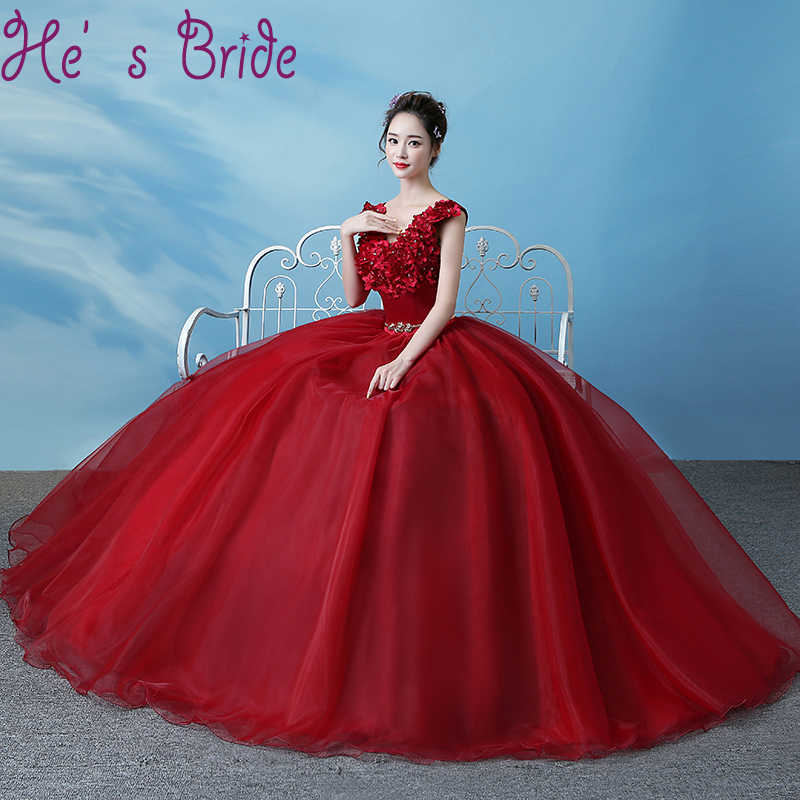 Evening Dress Elegant Wine Red V Neck Sleeveless Lac E Up Back Ball Gown  Satin Lace a0977fef4b5d