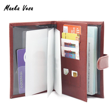 Manka Vesa Russian driver's License PU Leather Cover For Car Driving Documents Passport Case ID Card Holder Double Use