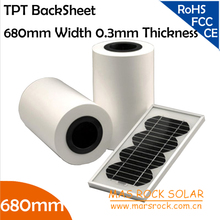 50 meters/lot Wholesale Solar Backsheet Film 680mm Width 0.3mm Thickness, Solar Panel Encapsulation Material, Solar TPT Film,TUV(China)
