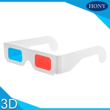 Free Shipping 10pcs/lot Universal Paper Anaglyph 3D Glasses Paper 3D Glasses View Anaglyph Red Cyan Red/Blue 3D Glass For Movie(China)