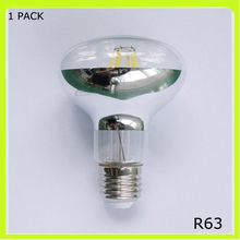 Top quality 6W or 8W led filament bulbs R63 led spot lights E27 screw mirror glass 120 degree beam angle 80CRI warm cold white