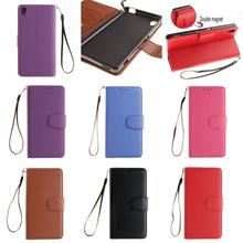 Fashion Best New Luxury PU Leather Flip Wallet Phone Case Cover For Sony Xperia M4 M 4 Aqua Dual E2303 Purple Blue Brown Red