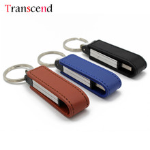 Transcend flash drive 64GB pen drive leather wrist band USB flash drive 4GB 8GB 16GB 32GB PENDRIVE(China)